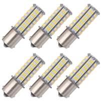 GRV BA15S 1156 1141 LED bulb 126-3014 SMD AC/DC 11-24V 4W High power Warm White Pack of 6