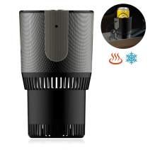Car Coffee Warmer Car Cup Warmer Cooler 2-In-1 Heating Smart Temperature Control Electric Mug Holder Car Tumbler Holder For Commuter/Traveler/Road Tripper/Recreation