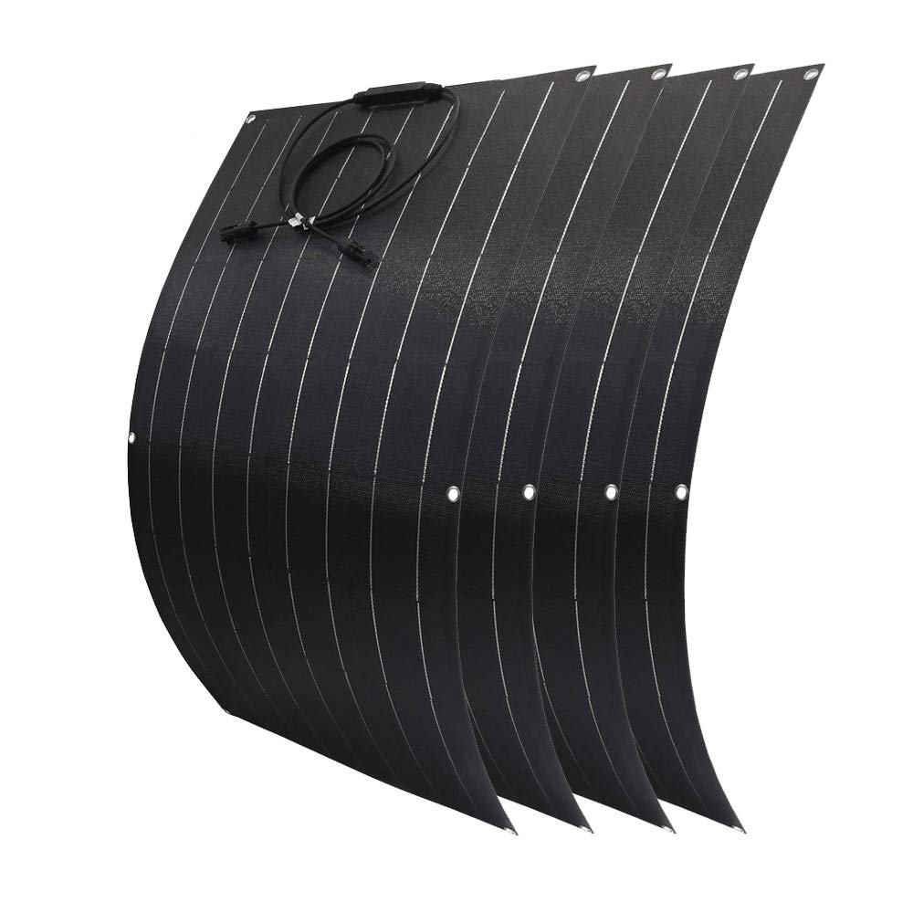 Giosolar 400W Flexible Monocrystalline Solar Panel Batter Charger for 12V 24 Volts CarBattery Boat& Home Off Grid System Camper Van Hiking Fishing Marine Harsh Environment