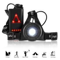 RODH Running Jogging Led Safety Lights Night Walking Running Gear Wearable Super Bright USB Rechargeable Battery with Adjustable Strap