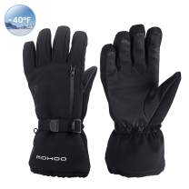 MOHOO Ski Gloves Men Women, Waterproof -40℉ Winter Gloves Warm Thermal Skiing Snowboarding Gloves 3M Thinsulate Cold Weather Gloves Touchscreen Snow Gloves for Winter Outdoor Sports Men Women