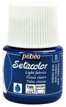 Pebeo Setacolor Light Fabrics Paint 45-Milliliter Bottle, Cobalt Blue