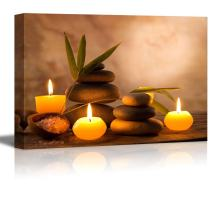 """wall26 - Aromatic Candles and Zen Stones - Canvas Art Wall Art - 16"""" x 24"""""""