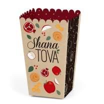 Rosh Hashanah - Jewish New Year Favor Popcorn Treat Boxes - Set of 12