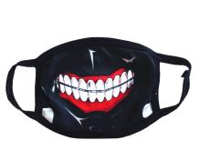 Mouth Mask Anime Simulated Zip Teeth Cosplay Face Mask Props Accessories for Boys Girls