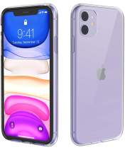 Temdan iPhone 11 Case, HD Clear Ultra Slim Fit Soft TPU Protective Clear Case Shock-Absorption Anti-Scratch Compatible Cover Cases for iPhone 11 6.1 inch 2019-Clear
