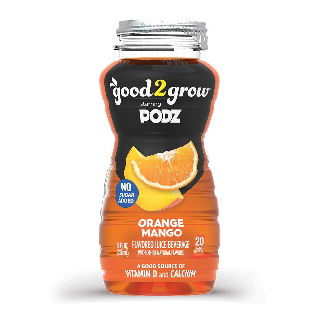 good2grow Orange Mango Flavored Water Refill, 24-pack of 10-Ounce BPA-Free Bottles, No Sugar Added with Good Source of Vitamin D and Calcium, for use with our Spill-Proof Character Toppers