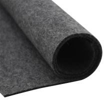 HomeModa Studio Thick Wool Felt Fabric Sheet,Designer Wool Felt by The Yard,3mm and 5mm Thicknesses (Dark Grey, 3 mm)