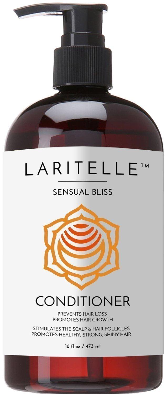 Laritelle Organic Conditioner, Hair Loss Prevention, Anti-Breakage, Split Ends Treatment, Argan Oil, Rosemary and Palmarosa, NO GMO, Sulfates, Gluten, Alcohol, Parabens, Phthalates, 16 oz