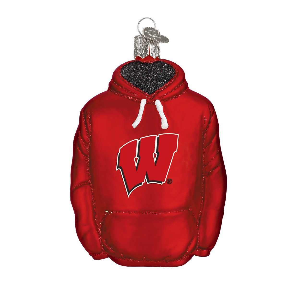 Old World Christmas University of Wisconsin Badgers Glass Blown Ornaments for Christmas Tree Hoodie
