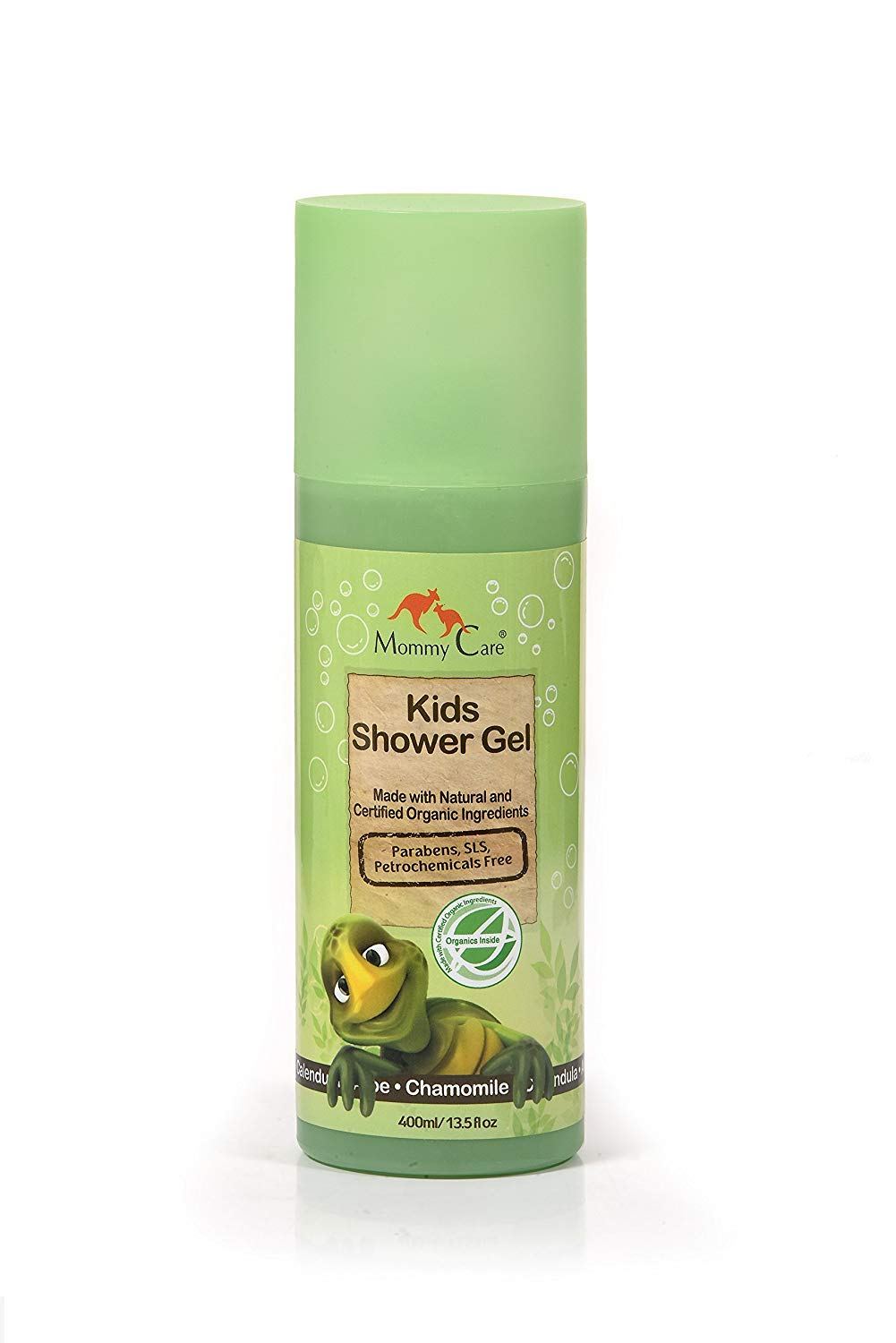 Mommy Care Baby Bath Time Shower Gel Soap Certified Organic 13.52 fl.oz Natural Children Body Wash for Dry Skin Great for Eczema and Newborns Sensitive Skin 400ml