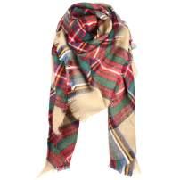 Women Fashion Scarf, Large Cashmere Feel Shawl Wraps Warm Plaid Scarves