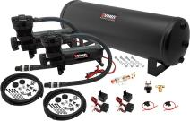 Vixen Air Suspension Kit for Truck/Car Bag/Air Ride/Spring. On Board System- Dual 200psi Compressor, 4 Gallon Tank. for Boat Lift,Towing,Lowering,Load Leveling,Bags,Onboard Train Horn VXO4841DB
