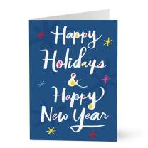 Hallmark Business Holiday Cards for Customers (Colorful Holiday and New Year) (Pack of 25 Greeting Cards)