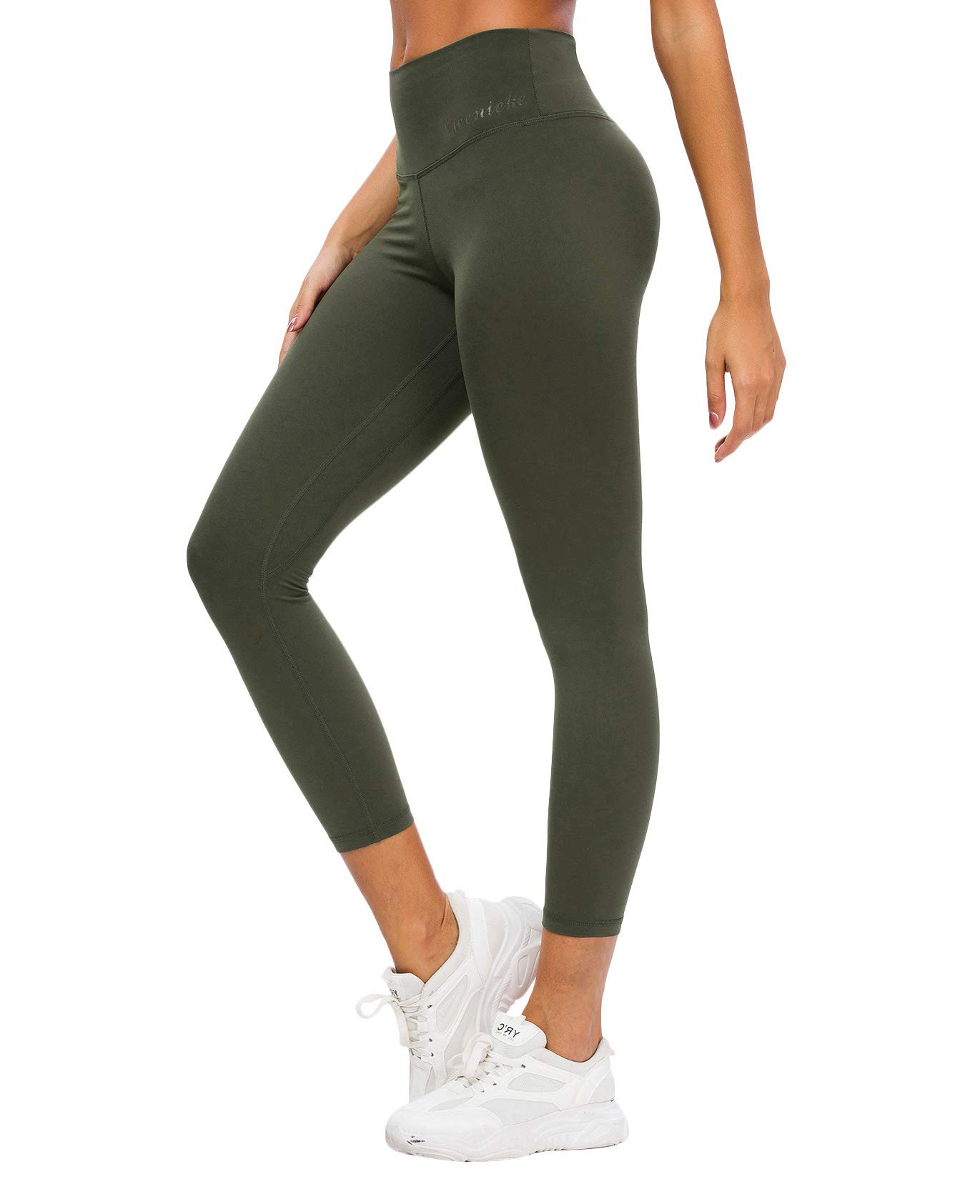 QUEENIEKE Women Yoga Leggings High Waisted Buttery-Soft 7/8 Length Pants 90826