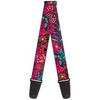 Guitar Strap Love Love Pink 2 Inches Wide