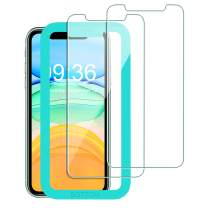 Bovon for iPhone 11 Screen Protector 2019 6.1'', for iPhone XR Screen Protector 2018, [Alignment Frame] [Ultra Clear] [3D Touch] [Case-Friendly] 0.25mm Tempered Glass Film (2 Packs)