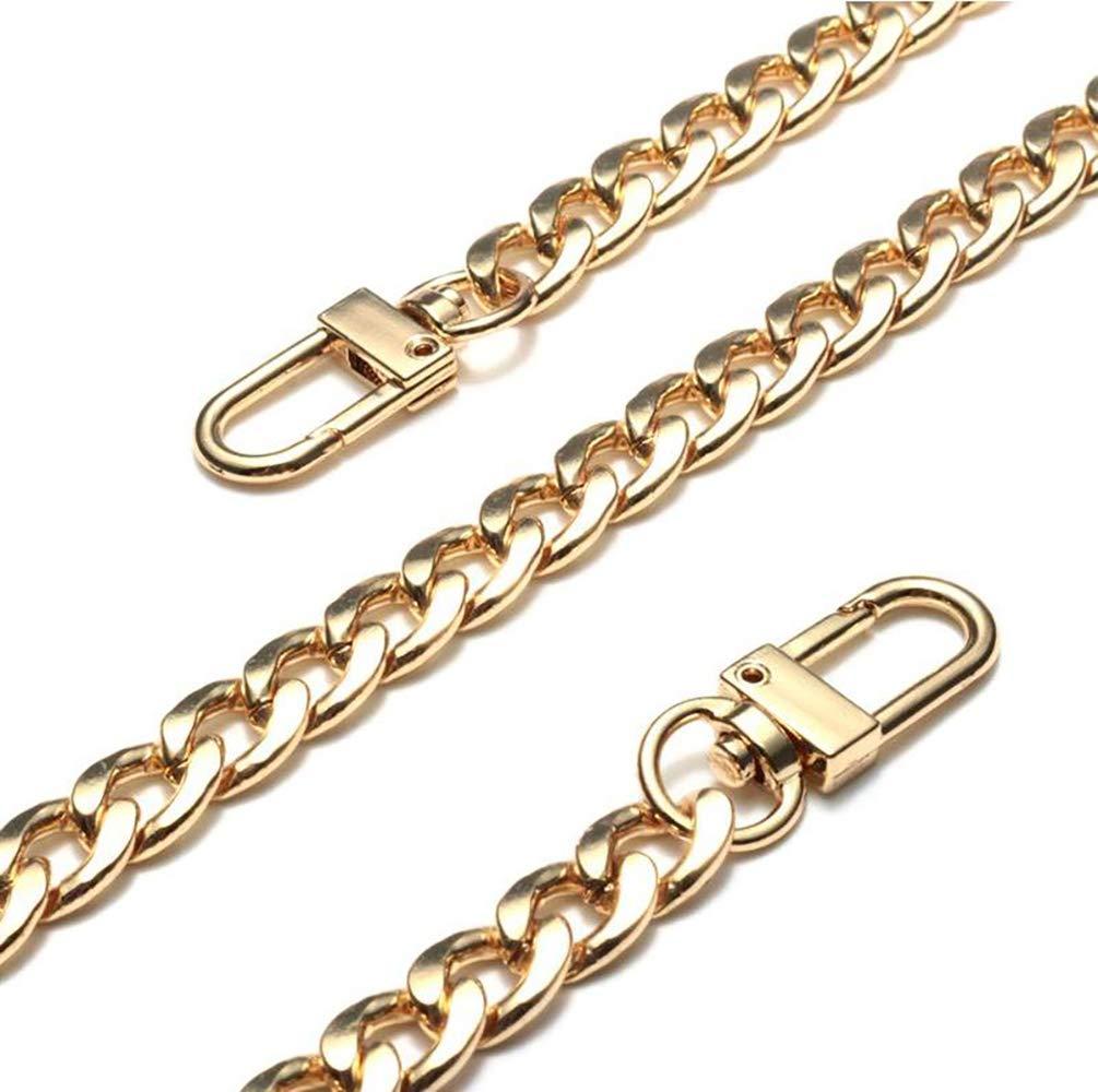 Purse Chain Strap Handle Shoulder Crossbody Handbag Bag Metal Replacement 3 Color 20CM - 120CM Selected (Gold, 100CM)