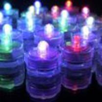 TDLTEK Waterproof Submersible Led Lights Tea Lights for Wedding, Party, Decoration (12 Pieces RGB Changing Colors)