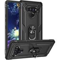 GSDCB LG Stylo 6 Case, Military Armor Heavy Duty Shockproof Phone Stand Protective Case with Built-in Kickstand Hard PC Back Cover Soft TPU Dual Layer for Women Men Girl Boy (Black)