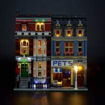 LIGHTAILING Light Set for (Creator Expert Pet Shop) Building Blocks Model - Led Light kit Compatible with Lego 10218(NOT Included The Model)