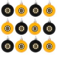 Forever Collectibles NHL Hockey Plastic Ball Holiday Tree Ornament Set (12 Pack) - Pick Team