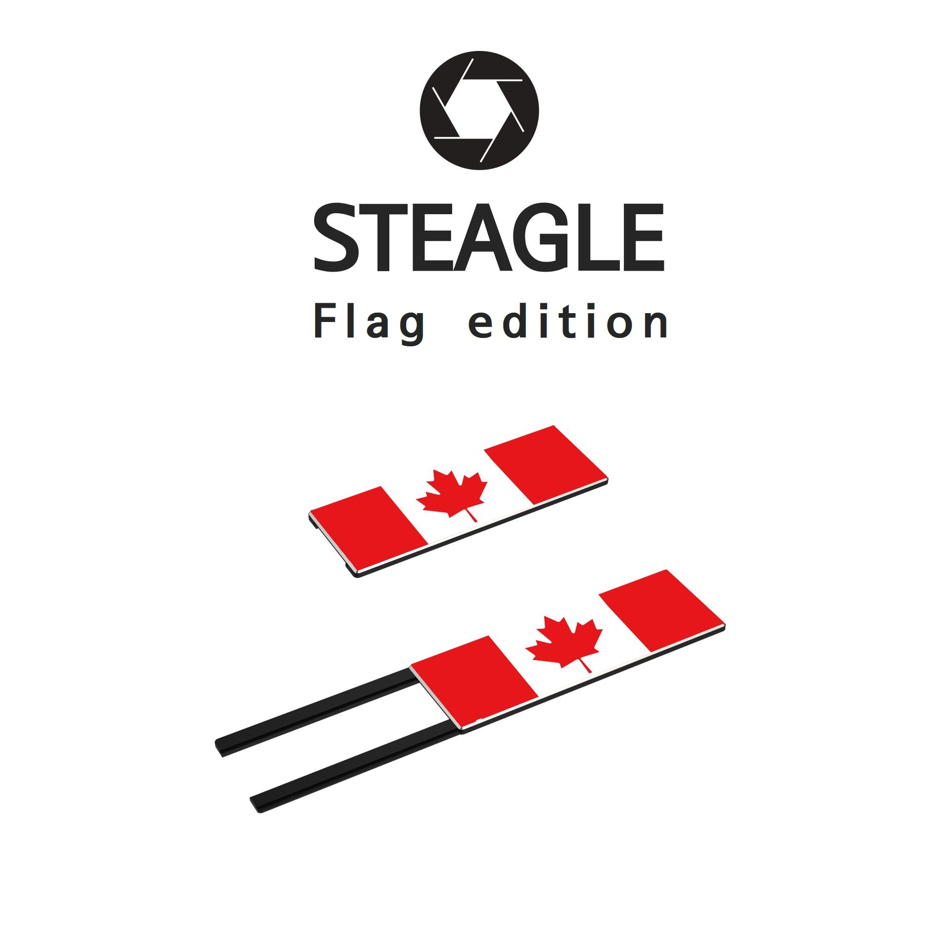 STEAGLE The Maple Leaf Flag Special Edition Webcam Cover [2nd Generation] for your privacy – compatible with Macbook Surface Laptop PC