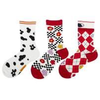 Dealswin Women Novelty Socks Gift Cute Womens Sock Fun Dress Socks Colorful Cotton Socks 3 Pair