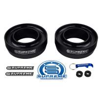 """Supreme Suspensions - Front Leveling Kit for 1999-2007 Chevrolet Silverado/GMC Sierra 1500 2.5"""" Front Lift Spring Spacers 2WD (Black)"""