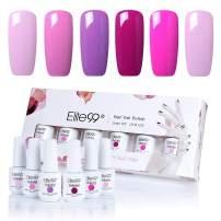 Elite99 Gel Nail Polish, Soak Off UV LED Gel Polish Nail Art Manicure Gift Box Set of 6