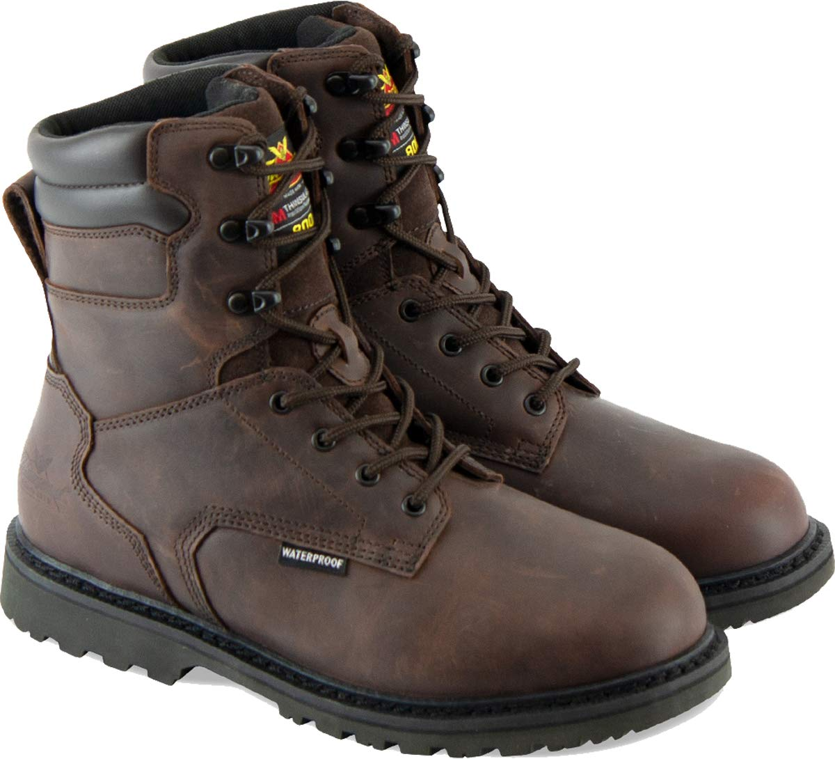 "Thorogood Men's V-Series 8"" 800g Insulated Waterproof, Hunting Boot"