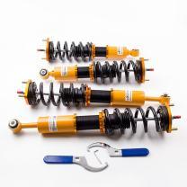maXpeedingrods Adjustable Coilovers for Lexus IS300 JDM rs200 2001-2005 Suspension 24 Levels Damping Golden