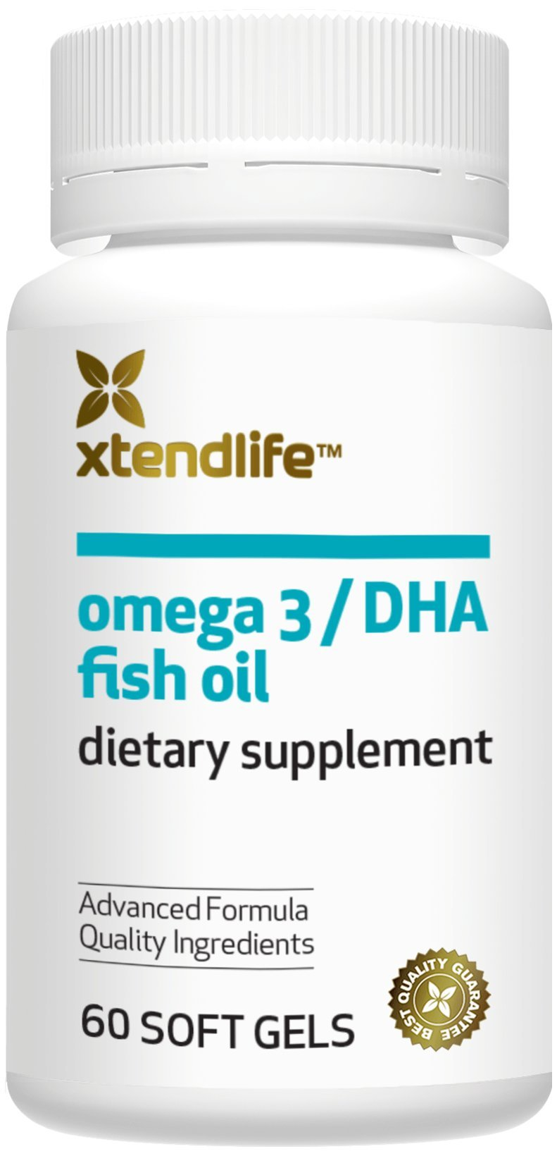 Xtend-Life Omega 3/DHA Fish Oil - 100% Pure Fishoil Natural Heart Brain & Joint Support Exclusive Advanced Formula w/Triglyceride - 700 mg per Day Strength Dietary Supplements - 60 Soft Gels