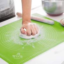 LIMNUO Silicone Pastry Mat for Pastry Rolling with Measurements, Thick Non Stick Baking Mat with Measurement Fondant Mat, Counter Mat, Dough Rolling Mat