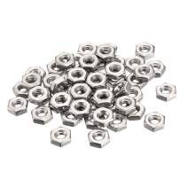 uxcell Hex Nuts, 10-24 Coarse Thread Hexagon Nut, Stainless Steel 304, Pack of 50