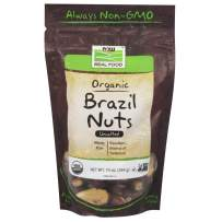 Now Foods Certified Organic Brazil Nuts, Whole, Raw and Unsalted, Source of Selenim and Magnesium, 10-Ounce
