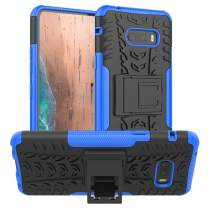 LG G8X ThinQ Case,PUSHIMEI Air Cushion Heavy Duty Shockproof with Kickstand Hard PC Back Cover Soft TPU Dual Layer Protection Phone Stand Case Cover LG G8X ThinQ/LG V50S ThinQ (Blue Kickstand case)