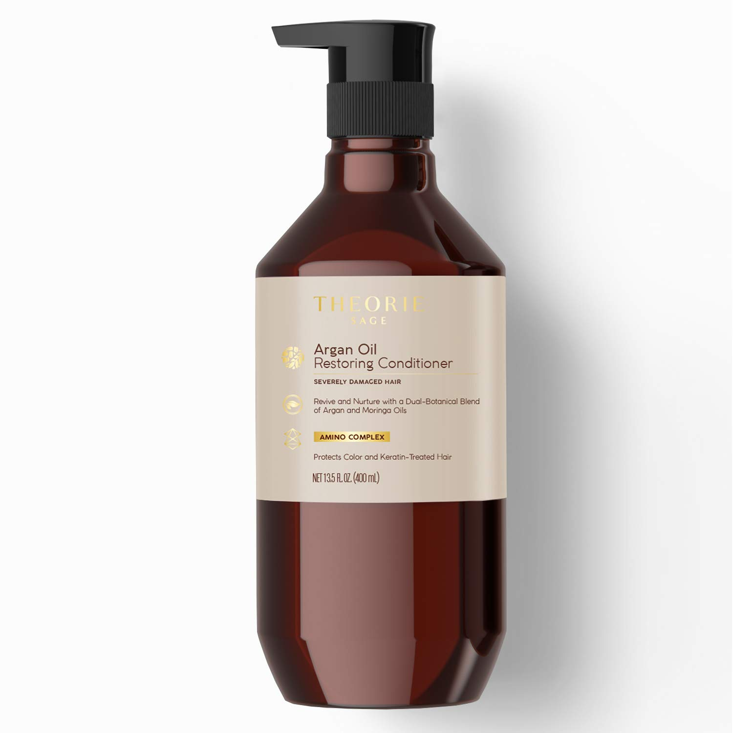 Theorie: Argan Oil - Ultimate Reform Conditioner | For all hair types | Color safe formula | Natural Ingredients (13.5 Fl Oz) - Label May Vary
