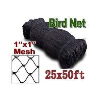 """boknight 25' X 50' Net Netting for Bird Poultry Aviary Game Pens New 1"""" Square Mesh Size (25' x 50'-1'')"""