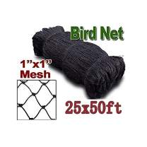 "boknight 25' X 50' Net Netting for Bird Poultry Aviary Game Pens New 1"" Square Mesh Size (25' x 50'-1'')"