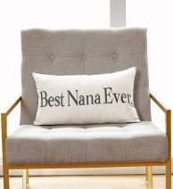 "Sanmetex Thanksgiving Day Best Nana Ever Gift Ideas for Grandma Birthday GiftCotton Blend Lumbar Decorative Throw Pillow Case Cushion Cover 12"" x 20"" (30CM X 50CM) Grey…"