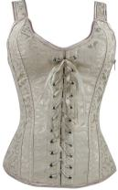 Imilan Women Sexy Boned Lace up Corsets and Strap Bustiers Top (FBA)