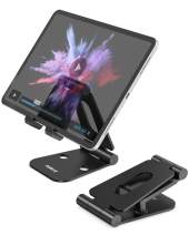 Nulaxy Tablet Stand, Fully Foldable, Adjustable Phone Stand, Desktop Holder Cradle Dock Compatible with iPad Mini Pro Air, Nintendo Switch, iPhone Xs Max XR X 8 7 6S 6 Plus, 4-10'' Phones/Tablets
