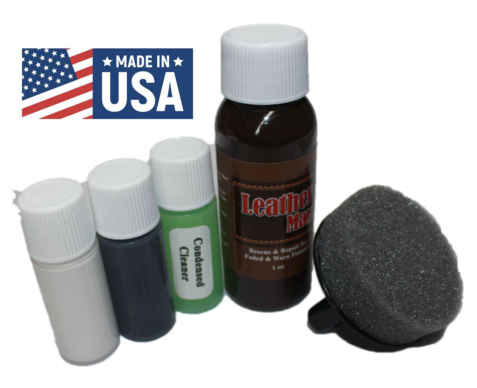 Leather Repair, Refinish, Restore Kit/Leather Max Touch-up for Leather & Vinyl Refinishing (Autumn Red)