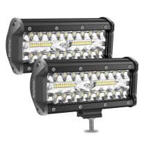 BEAMTRON LED Light Bar 7 Inch 2PCS 240W 24,000LM Led Light Pods Combo Driving Lights Spot Flood Off Road Backup Lights for Trucks Trailer Pickup SUV ATV Jeep RZR Polaris