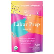 Pink Stork Labor Prep Tea: Floral, Red Raspberry Leaf Tea + 100% Organic + Labor and Delivery + Postpartum Essentials, Women-Owned, 30 Cups