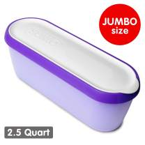 SUMO Jumbo Homemade Ice Cream Containers: Dishwasher Safe Tub. 2.5 Quart (Purple)