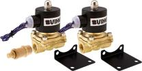 "Vixen Air 3/8"" NPT Air Ride Suspension High Flow Electric Air Valve (Solenoid) 210 PSI (2-Pack) with One 3/8"" Flow/Dump Control Valve VXF2038M-2"