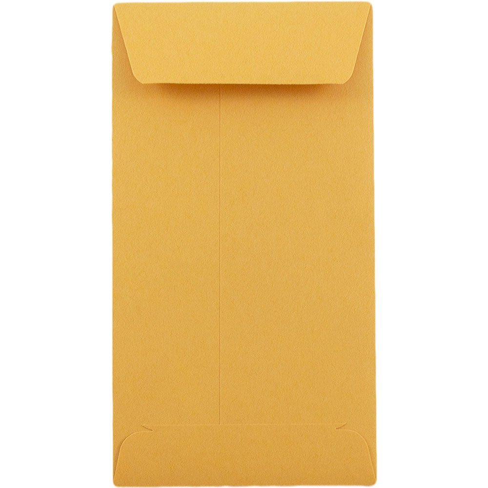JAM PAPER #5.5 Coin Recycled Business Envelopes - 3 1/8 x 5 1/2 - Brown Kraft Recycled - 25/Pack