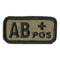 """Tactical Blood Type Patches -""""Type AB Positive"""" - 2""""x1"""""""